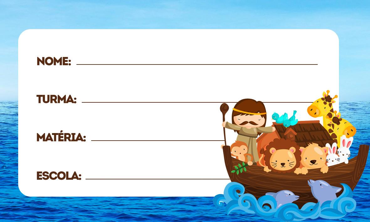 Arca de Noé Etiqueta Escolar Personalizada