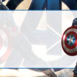 Capitão América Etiqueta Escolar para Imprimir