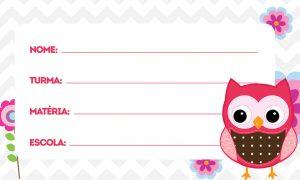 Coruja Baby Etiqueta Escolar Personalizada