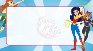 DC Super Hero Girls Etiqueta Escolar para Imprimir