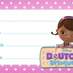 Doutora Brinquedos Etiqueta Escolar para Imprimir