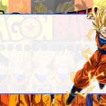 Dragon Ball Super Etiqueta Escolar para Imprimir