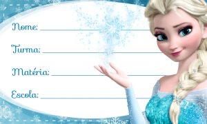 Elza Frozen Etiqueta Escolar Personalizada