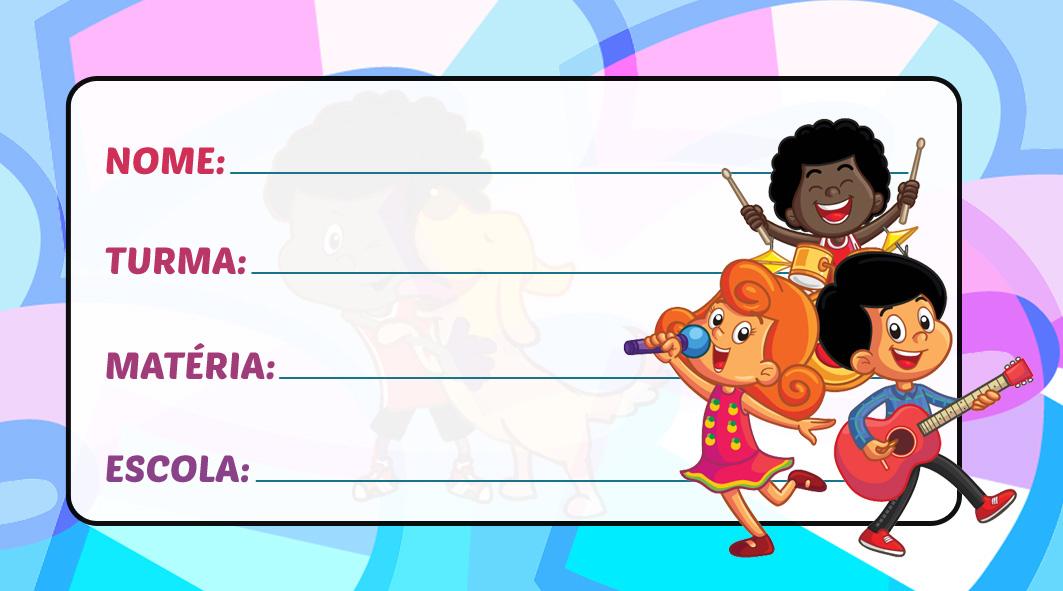 Etiqueta Escolar 3 Palavrinhas