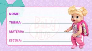 Etiqueta Escolar Baby Alive
