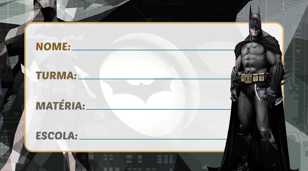 Etiqueta Escolar Batman