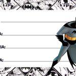 Etiqueta Escolar Batman para Imprimir