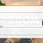 Etiqueta Escolar O Bom Dinossauro