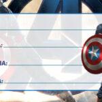Etiqueta Escolar Capitão América