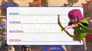 Etiqueta Escolar Clash Royale