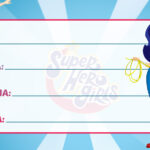 Etiqueta Escolar DC Super Hero Girls