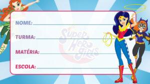 Etiqueta Escolar DC Super Hero Girls