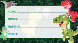 Etiqueta Escolar Dinossauro Baby