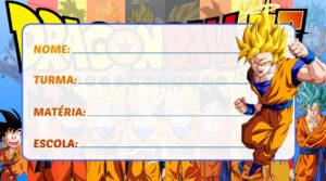 Etiqueta Escolar Dragon Ball Super