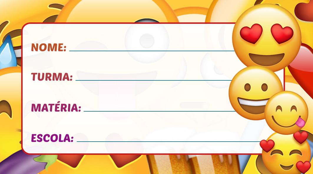 Etiqueta Escolar Emoji
