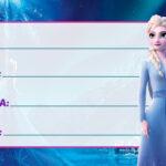 Etiqueta Escolar Frozen 2