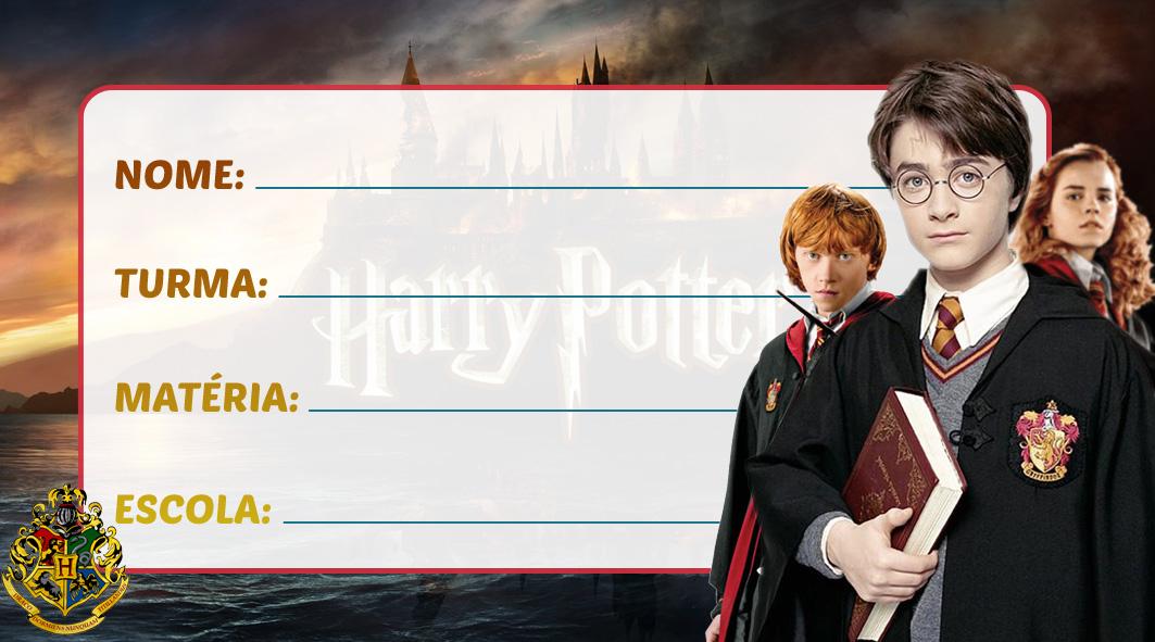 Etiqueta Escolar Harry Potter