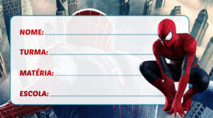 Etiqueta Escolar Homem Aranha