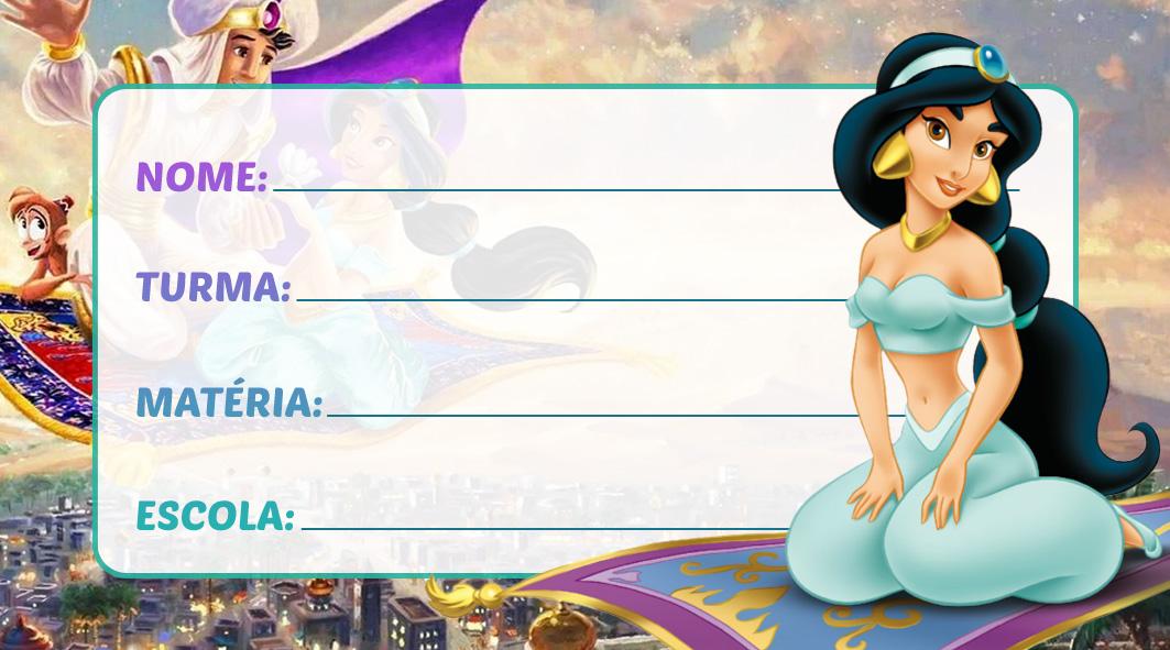 Etiqueta Escolar Jasmine
