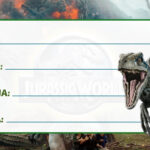 Etiqueta Escolar Jurassic World