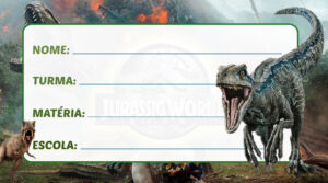 Etiqueta Escolar Jurassic World