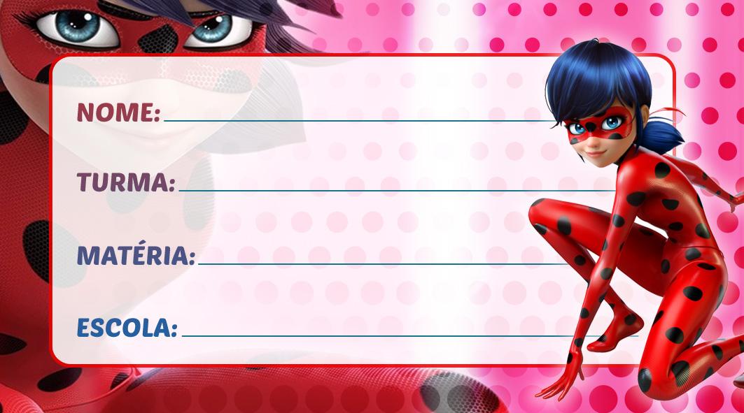 Etiqueta Escolar Ladybug