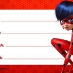 Etiqueta Escolar Ladybug para Imprimir