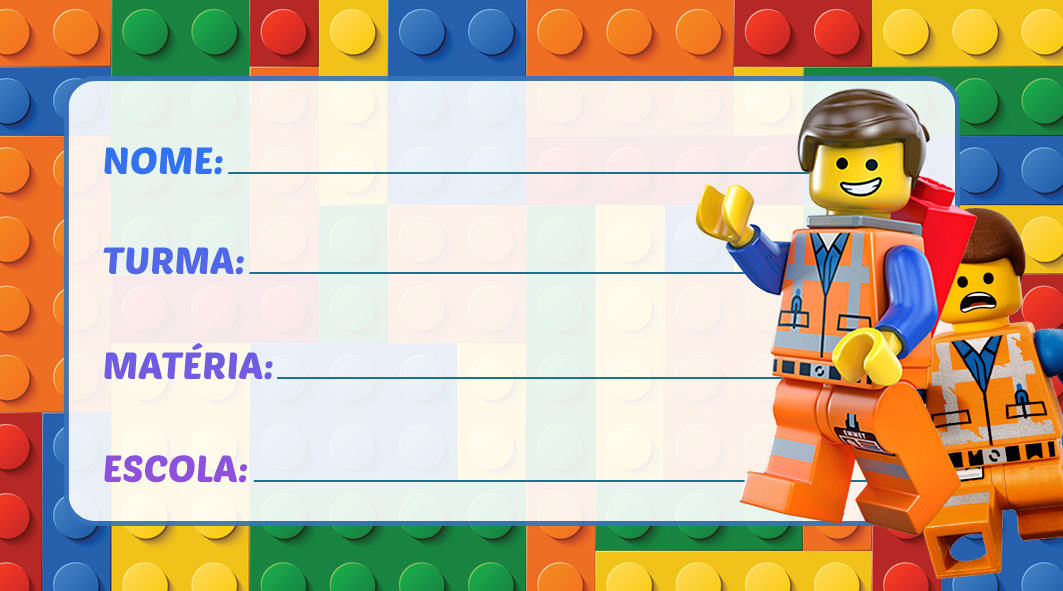 Etiqueta Escolar Lego