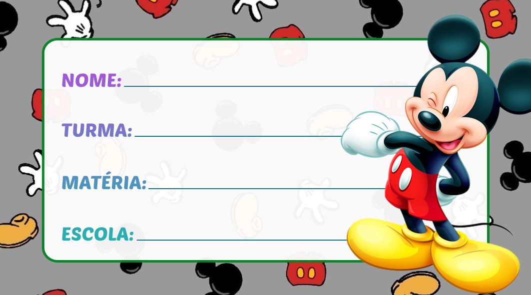Etiqueta Escolar Mickey