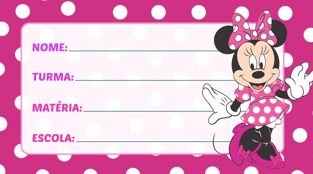 Etiqueta Escolar Minnie Vestido Rosa
