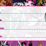 Etiqueta Escolar Monster High