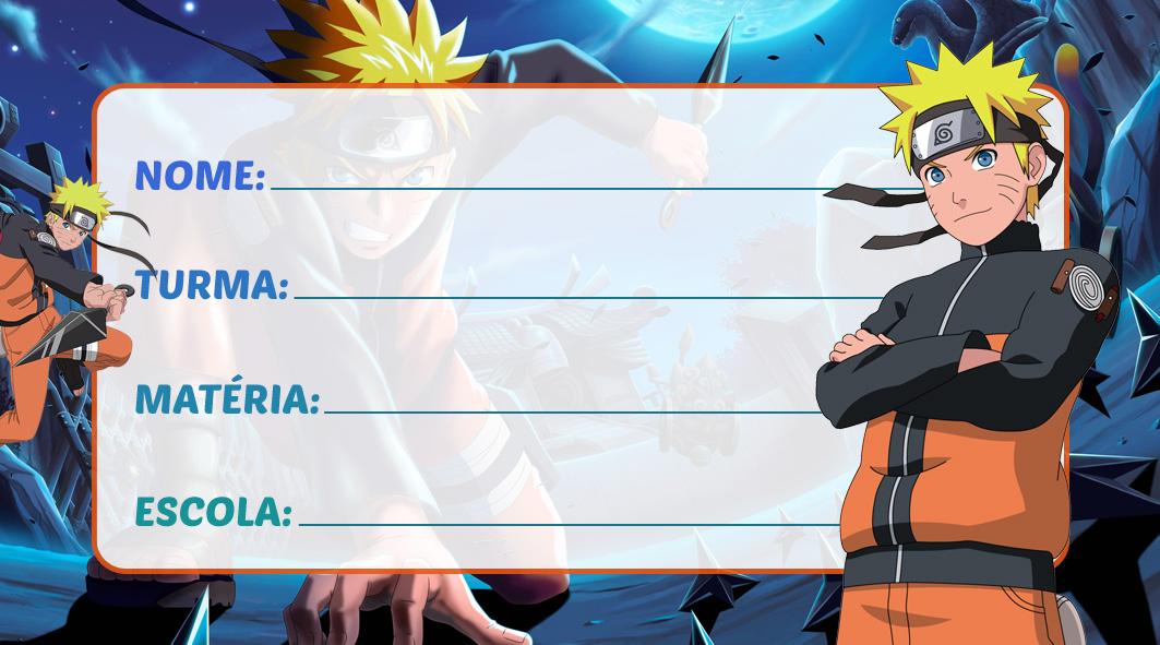Etiqueta Escolar Naruto