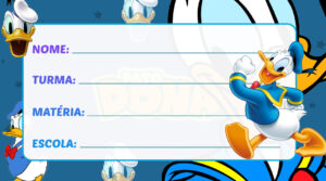 Etiqueta Escolar Pato Donald