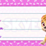 Etiqueta Escolar Patrulha Canina Skye