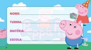 Etiqueta Escolar Peppa Pig