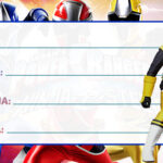 Etiqueta Escolar Power Rangers Ninja Steel