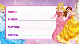 Etiqueta Escolar Princesas da Disney