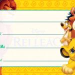 Etiqueta Escolar Rei Leão