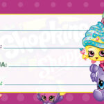 Etiqueta Escolar Shopkins