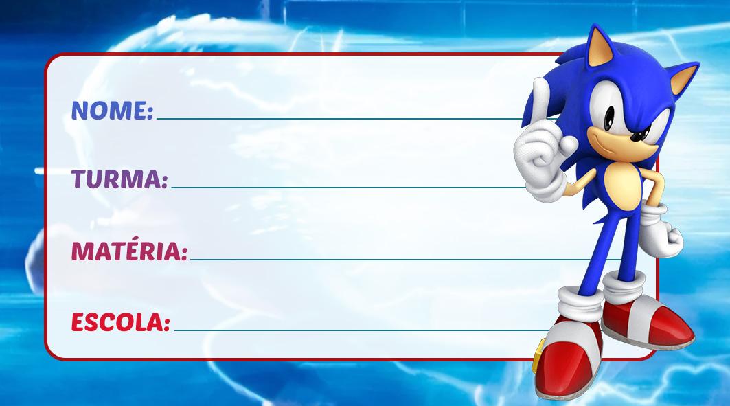 Etiqueta Escolar Sonic