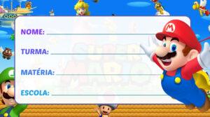 Etiqueta Escolar Super Mario