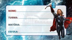 Etiqueta Escolar Thor