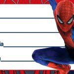 Homem Aranha Etiqueta Escolar para Imprimir
