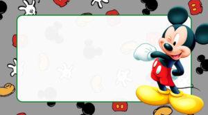 Mickey Etiqueta Escolar para Imprimir