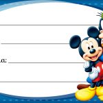 Mickey e sua Turma Etiqueta Escolar