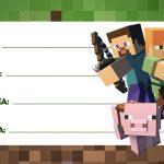 Minecraft Etiqueta Escolar Personalizada