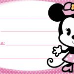 Minnie Rosa Cute Etiqueta Escolar