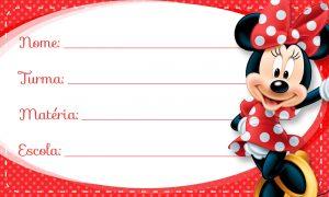Minnie Vermelha Etiqueta Escolar