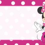 Minnie Vestido Rosa Etiqueta Escolar para Imprimir