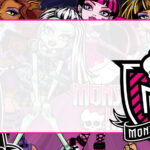 Monster High Etiqueta Escolar para Imprimir
